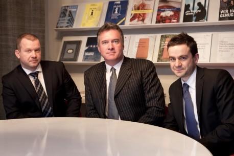 Dominik Cofalka, Christophe Gilet und Wolfgang Schreiner, Partner Mensalia